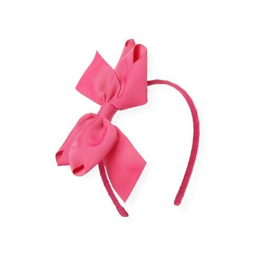 Azalea Pink Grosgrain Ribbon Bow Headband at JanieandJack