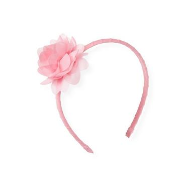 Flamingo Pink Corsage Headband at JanieandJack