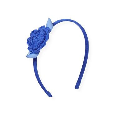 Coastal Blue Crochet Flower Headband at JanieandJack