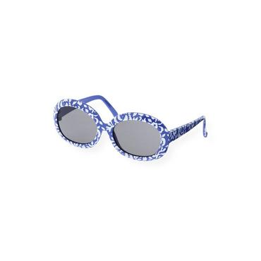 Coastal Blue Floral Geometric Floral Sunglasses at JanieandJack