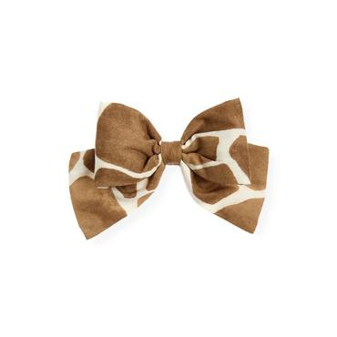 Giraffe Sunset Giraffe Print Bow Barrette at JanieandJack