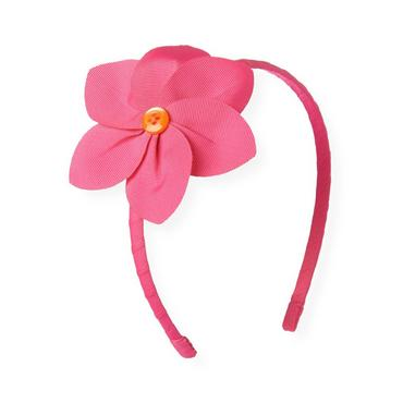 Orchid Pink Flower Corsage Headband at JanieandJack