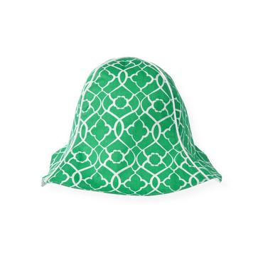 Emerald Green Tile Print Sunhat at JanieandJack