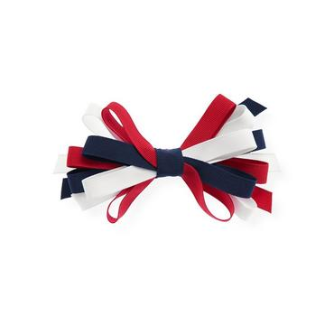 Americana Grosgrain Ribbon Loop Bow Barrette at JanieandJack