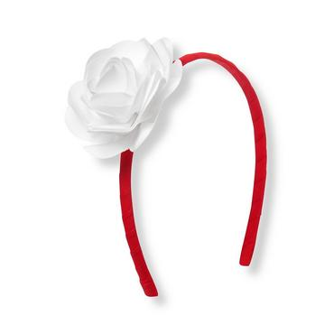 Vivid Red Flower Corsage Headband at JanieandJack