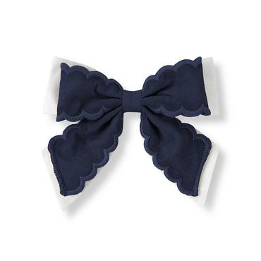 Classic Navy Double Bow Barrette at JanieandJack