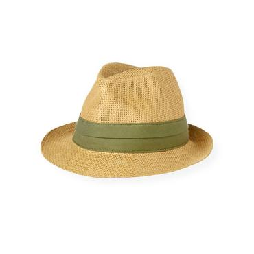 Boys Natural Straw Fedora Hat at JanieandJack