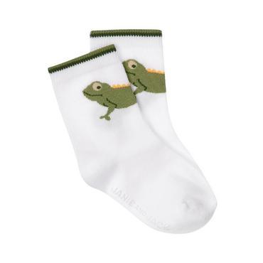 Boys Pure White Chameleon Sock at JanieandJack