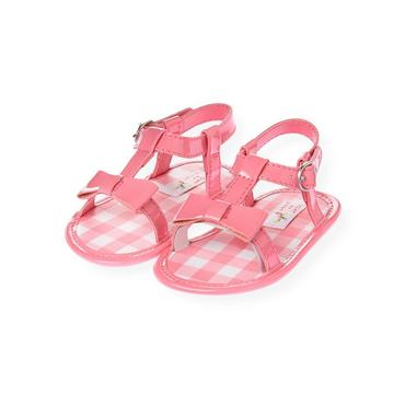 Baby Girl Paradise Pink Patent Leather Crib Sandal at JanieandJack