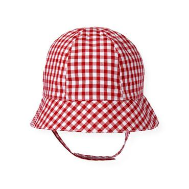 Baby Boy American Red Check Gingham Hat at JanieandJack