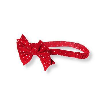 Strawberry Red Dot Bow Dot Headband at JanieandJack