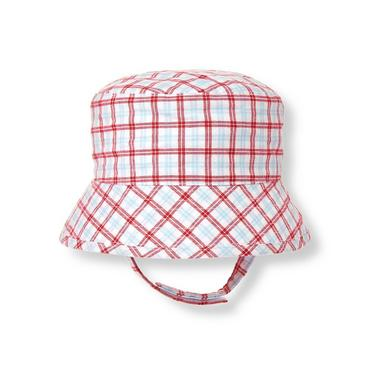 Baby Boy Tricycle Red Plaid Plaid Bucket Hat at JanieandJack