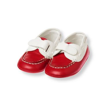 Baby Boy Tricycle Red Boat Crib Shoe at JanieandJack