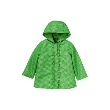 Spring Green Dot Dot Raincoat at JanieandJack