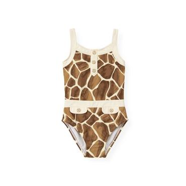 Giraffe Sunset Giraffe Print Swimsuit at JanieandJack