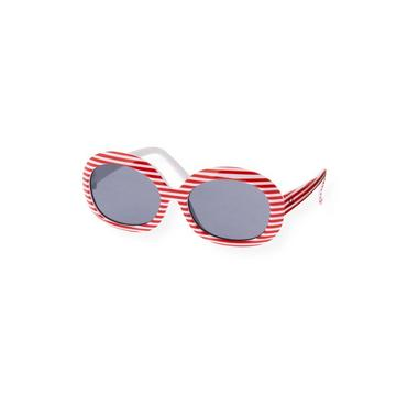 Cherry Red Stripe Stripe Sunglasses at JanieandJack