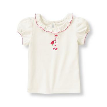 Jet Ivory Girl Rosette Top at JanieandJack
