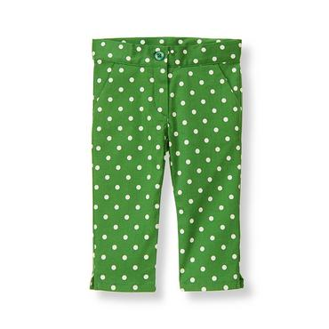 Kelly Green Dot Dot Crop Pant at JanieandJack