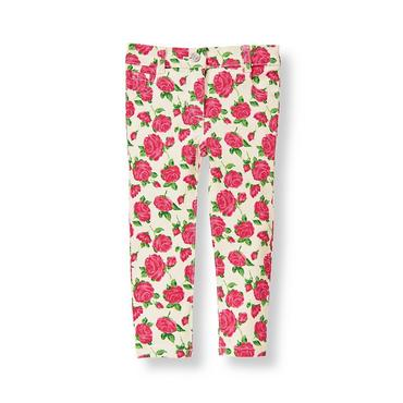 Fuchsia Rose Floral Rose Floral Print Jean at JanieandJack