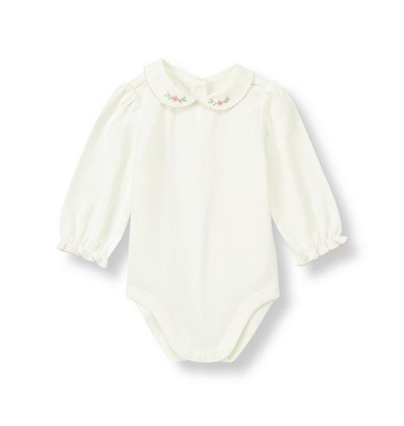 Rosette Collar Bodysuit
