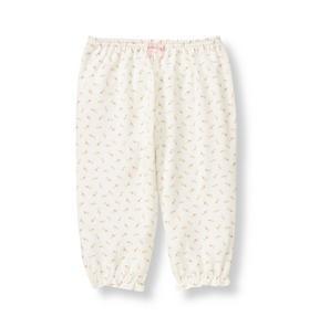 Rosette Floral Knit Pant