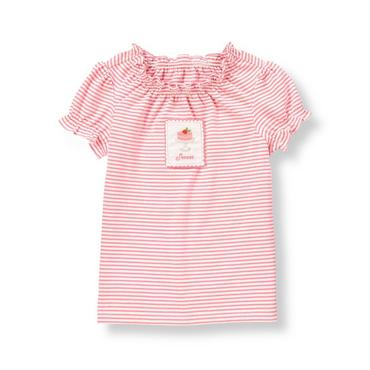 Confetti Pink Stripe Sweet Cake Stripe Top at JanieandJack