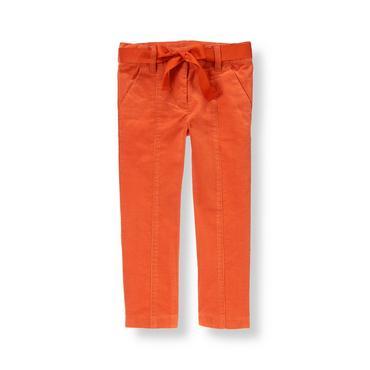 Candied Orange Belted Corduroy Pant at JanieandJack