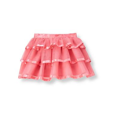 Confetti Pink Satin Ribbon Tulle Skirt at JanieandJack