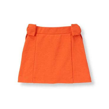 Candied Orange Bow Ponte Skirt at JanieandJack