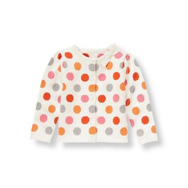 Confetti Dot Bow Dot Cardigan at JanieandJack
