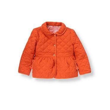 Candied Orange Quilted Jacket at JanieandJack