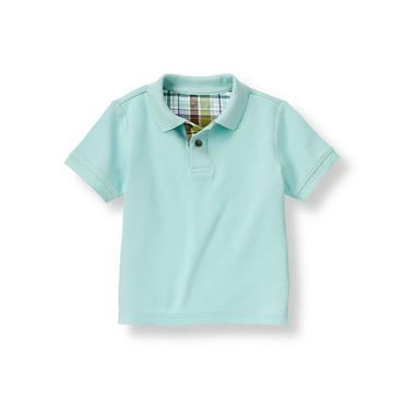 Boys Light Blue Polo Shirt at JanieandJack