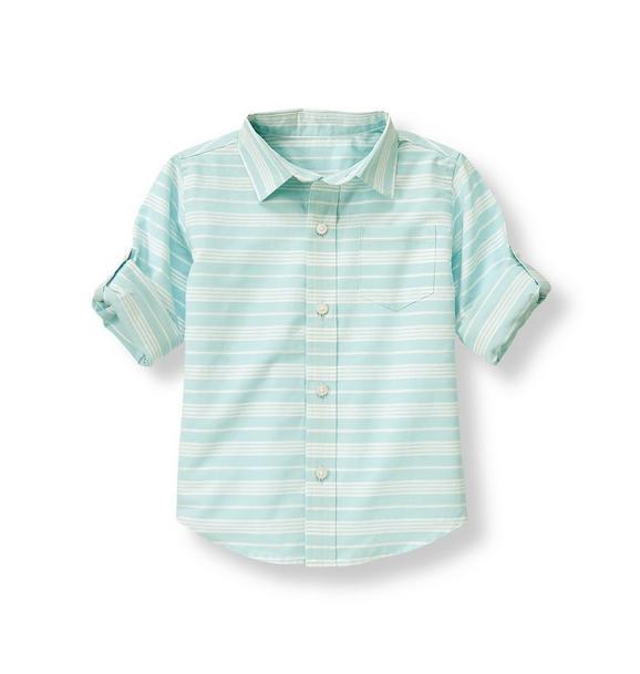 Dobby Stripe Roll Cuff Shirt