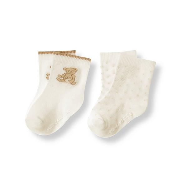 Honey Bear Dot Sock Two-Pack