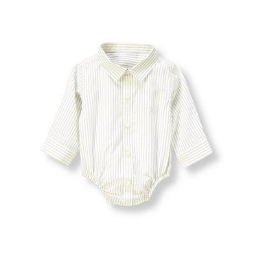 Baby Boy Charming Blue Pinstripe Pinstripe Bodysuit at JanieandJack