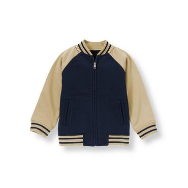 Champion Navy Football Zip Cardigan at JanieandJack