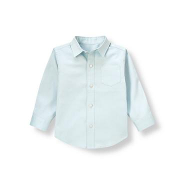Boys Airy Blue Diamond Dress Shirt at JanieandJack