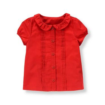 Metropolitan Red Pintucked Top at JanieandJack