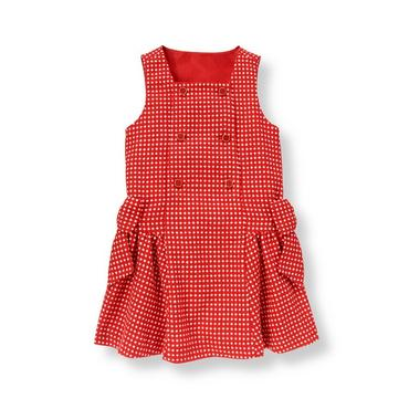 Metropolitan Red Dot Button Dot Wool Blend Jumper at JanieandJack