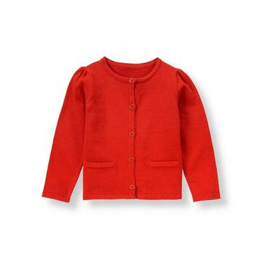 Metropolitan Red Button Cardigan at JanieandJack