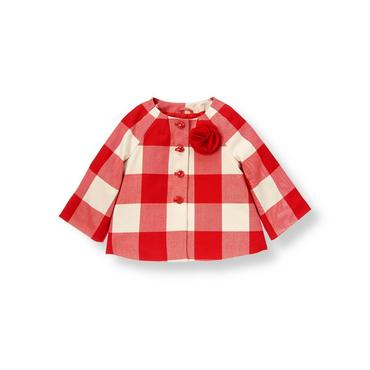Metropolitan Red Check Plaid Jacket at JanieandJack