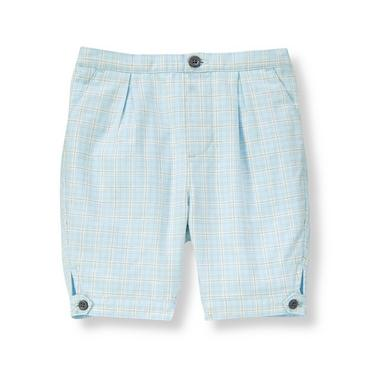 Baby Boy Illusion Blue Plaid Plaid Twill Knicker at JanieandJack