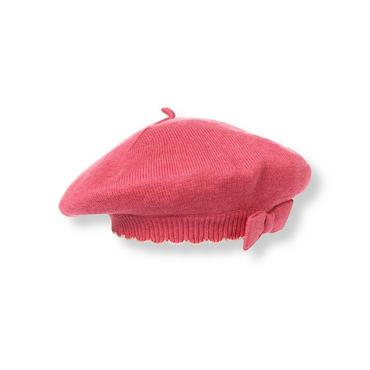 Fuchsia Rose Heathered Sweater Beret at JanieandJack