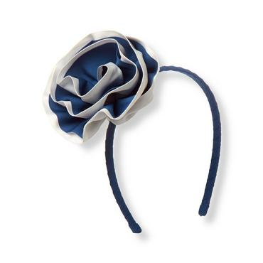 Edwardian Blue Ribbon Rosette Headband at JanieandJack