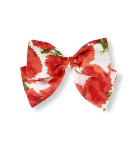 Bow Floral Barrette