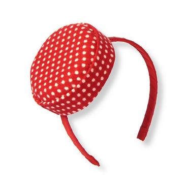 Metropolitan Red Dot Pillbox Dot Wool Blend Headband at JanieandJack