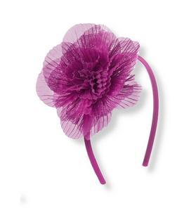 Pleated Rosette Silk Headband