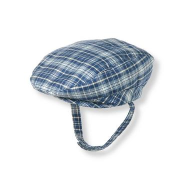 Baby Boy Charming Blue Plaid Plaid Twill Cap at JanieandJack