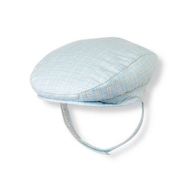 Illusion Blue Plaid Plaid Twill Cap at JanieandJack