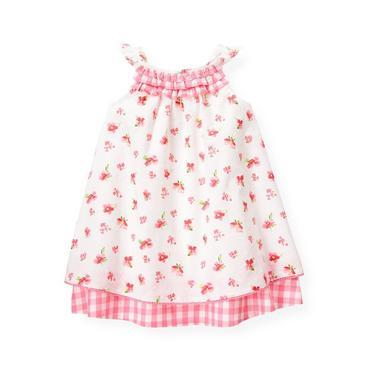 Baby Girl Paradise Pink Floral Floral Swiss Dot Dress at JanieandJack